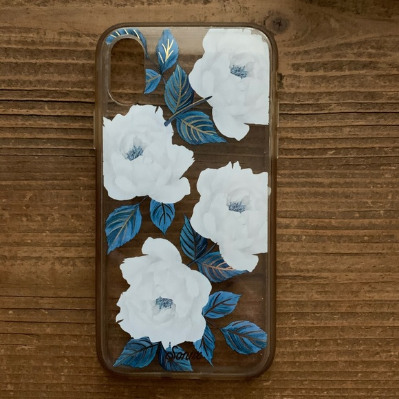 Sonix Blue and White floral iPhoneXS phone case